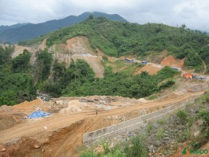 Construction Road and Bridge to Tra Linh 3 Hydroelectric Power Plant